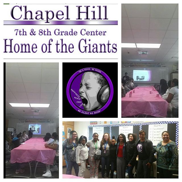 Indianapolis Chapel Hill Middle school ladies. _Insides schools.._engaging..reaching.