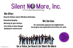 Be a Voice..be Heard..be Silent No More! #SilentNoMore #beaVoice #beHeard #beSilentNoMore #stopdomes