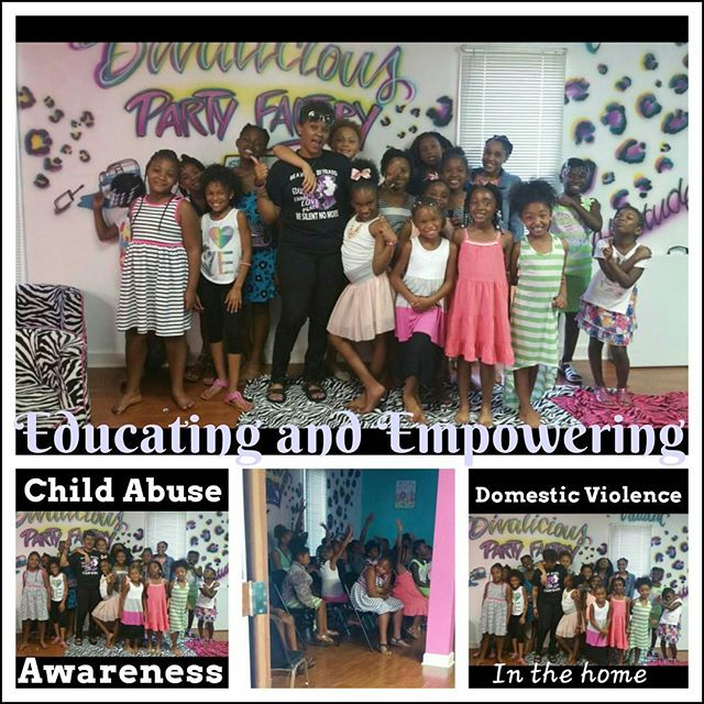 _divaliciousparty Summer Camp with the little Divas! Bringing abuse awareness to the summer programs