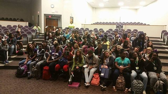 Engaging..Reaching...Teaching!! Chapel Hill Middle School ladies learning about Domestic Violence in