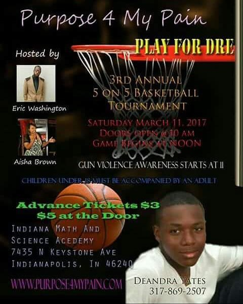 Excited for this weekend! Come out and support Play for Dre while gaining knowledge on the gun viole