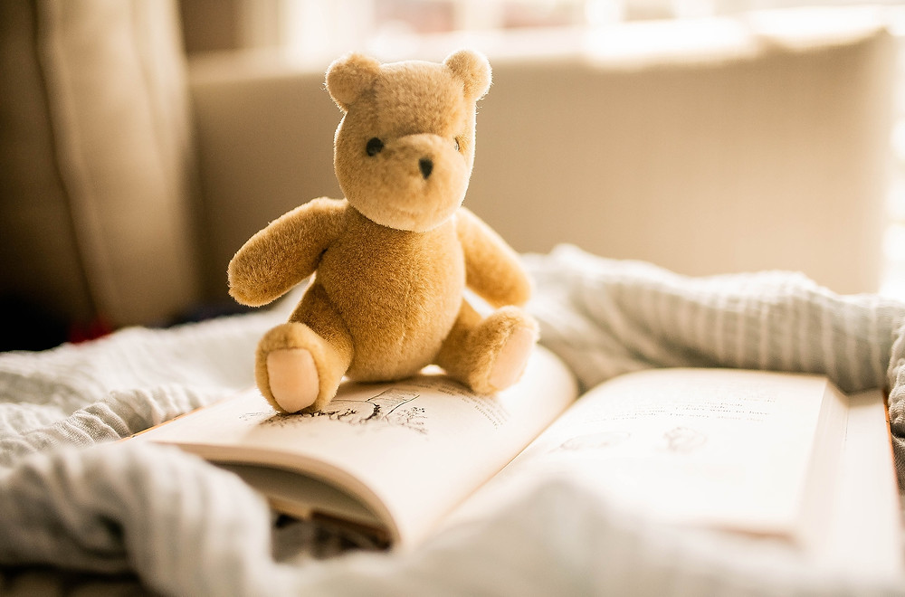 Winnie the pooh stuffed animal and book