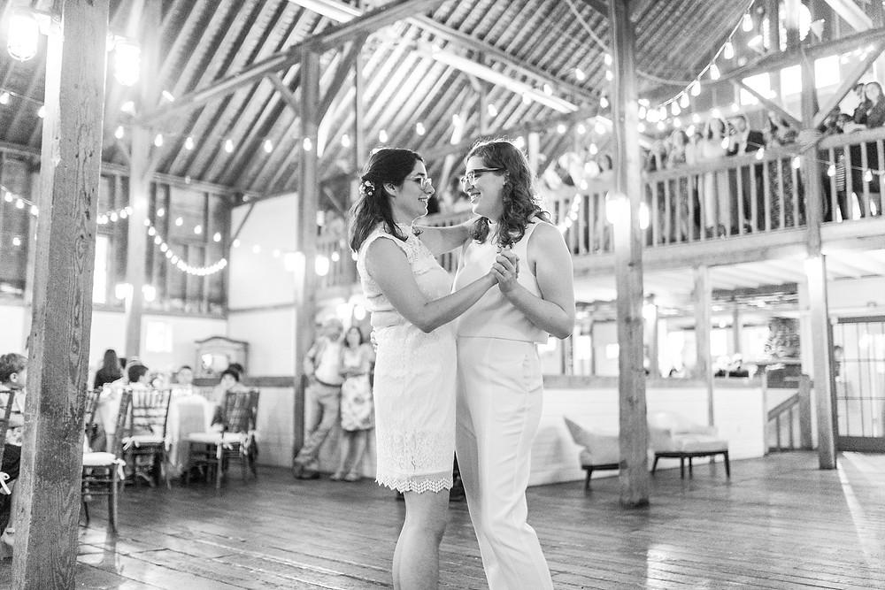 brides dance their first dance