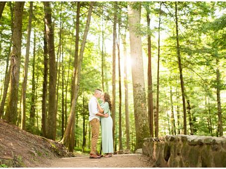 Kellsie & Preston // Engagement Session in Hocking Hills State Park & Athens, Ohio