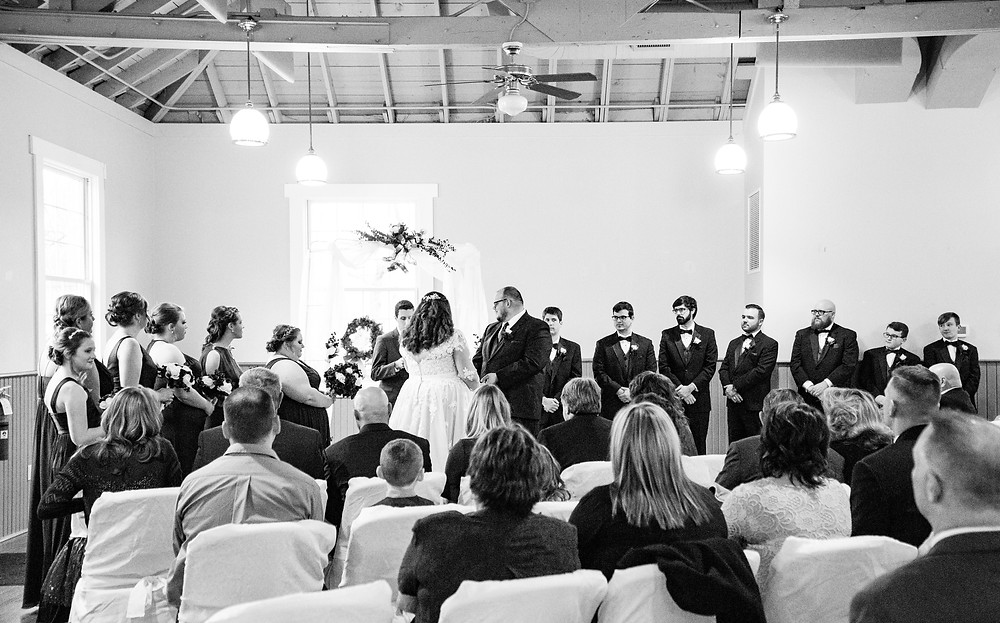 wedding ceremony for winter wedding in cleveland ohio