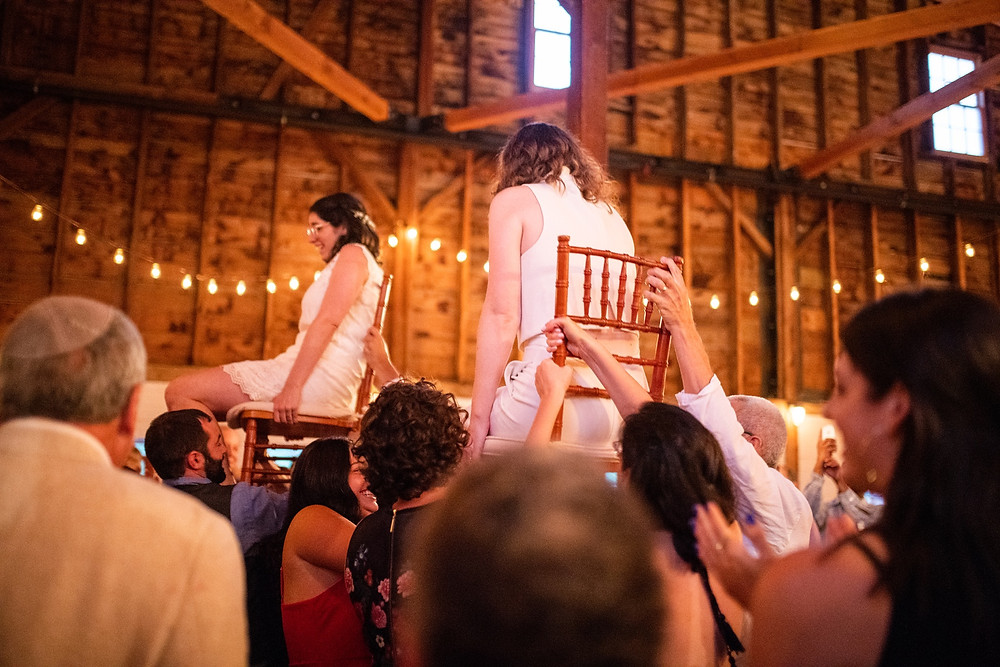 guests dance the horah during the reception