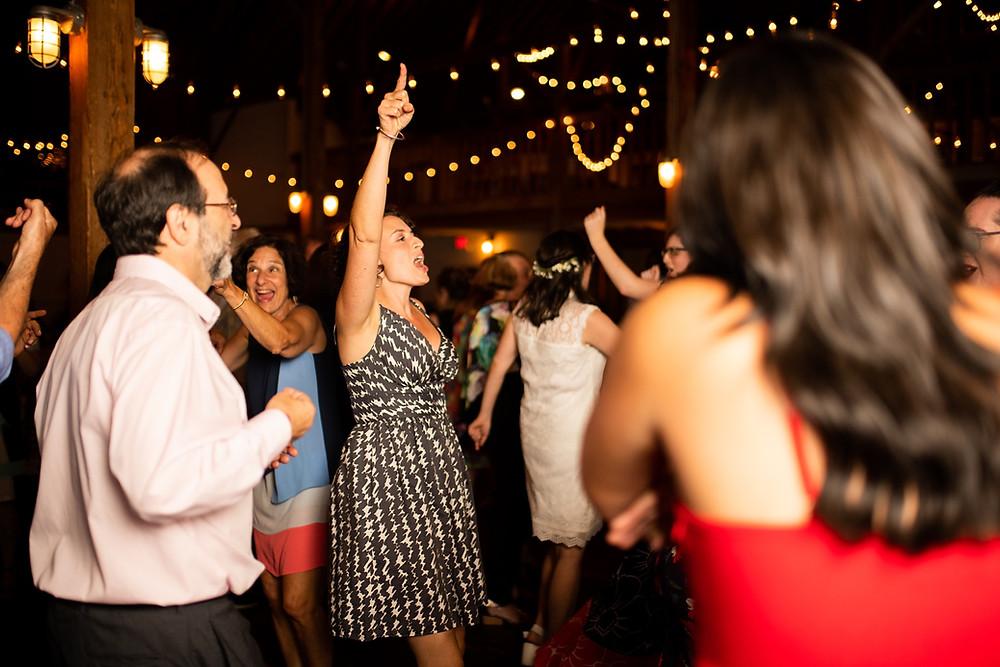 dancing at reception at night