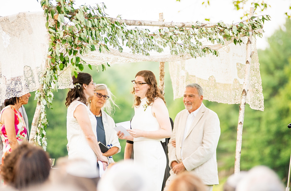 brides say vows to each other