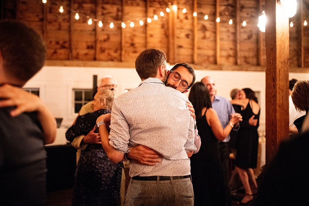 couple embraces during slow dancing
