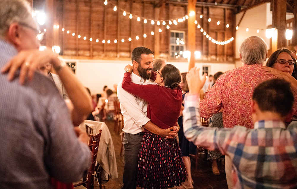 couple dancing during wedding reception
