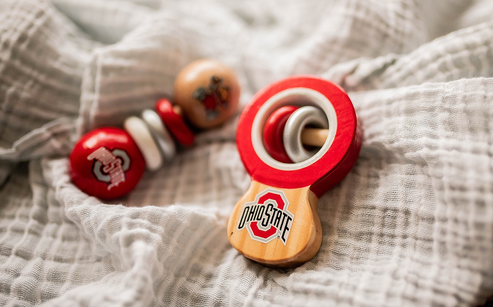 Ohio state baby rattles
