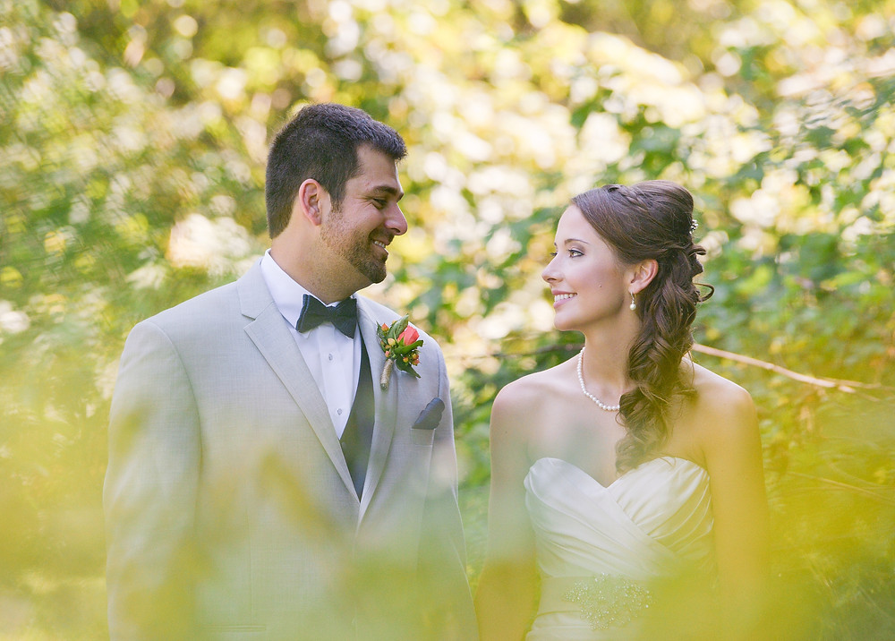 Bride and groom portrait in Cleveland Ohio