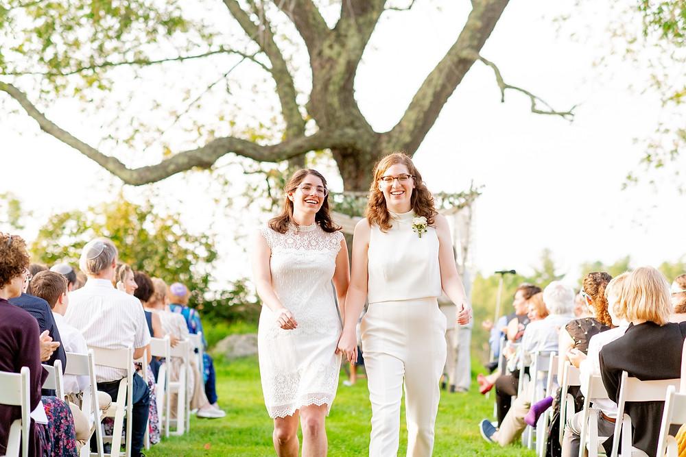 brides processional on their wedding day