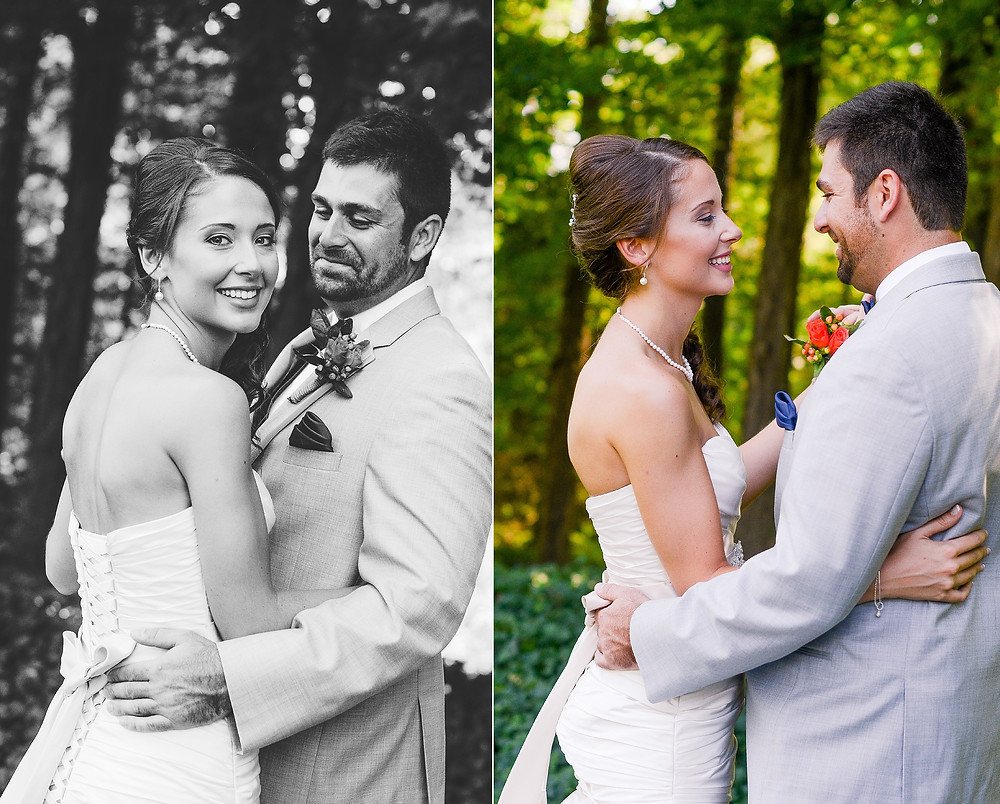 Bride and groom laughing and smiling portraits in Northeast Ohio