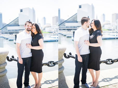 EriKa + Jesse's Couple's Session // Voinovich Bicentennial Park, Cleveland, Ohio