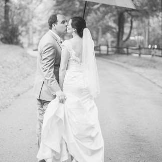 Even in the rainiest of wedding days, th