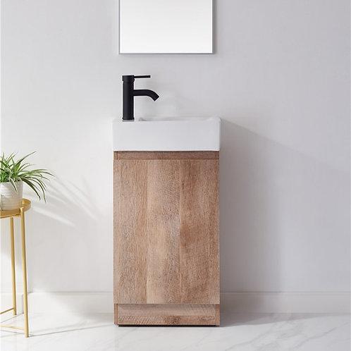 450 bathroom floor freestanding plywood vanity cabinet ceramic basin black basin mixer