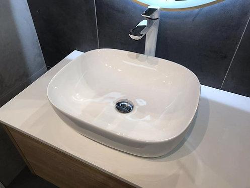 Round vanity basin