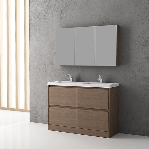 1200mm Floor Bathroom Vanity with Double Basins
