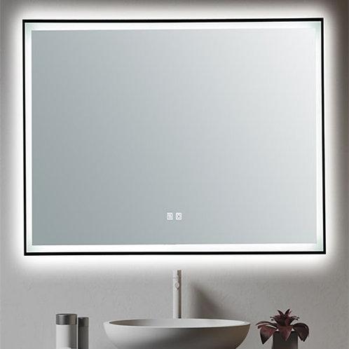750 black framed led makeup vogue demister anti-fog bathroom mirror warm cool white light dimmable