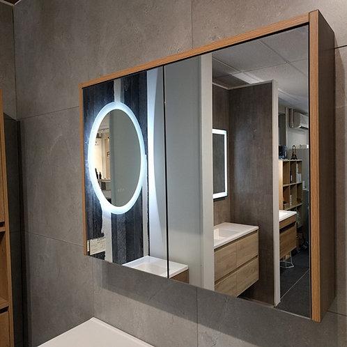 750mm Natural Oak Mirror Cabinet