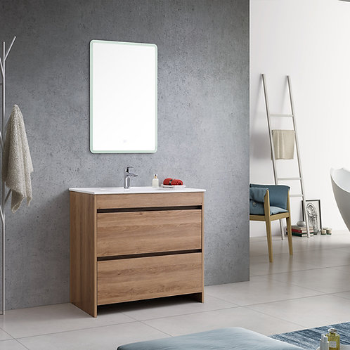 600mm Floor Natural Oak Bathroom Vanity