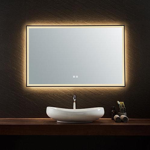 Black Framed LED Mirror | Demister | 900*750