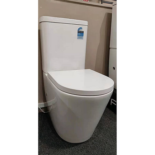 Modern Rimless Back to Wall Soft Close Toilet
