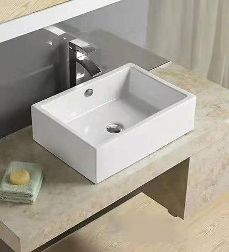Square vanity basin