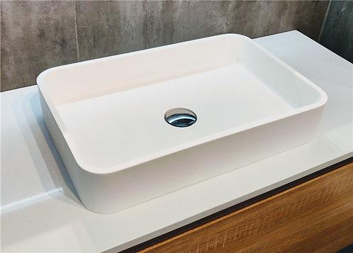 Corian freestanding vanity vessel