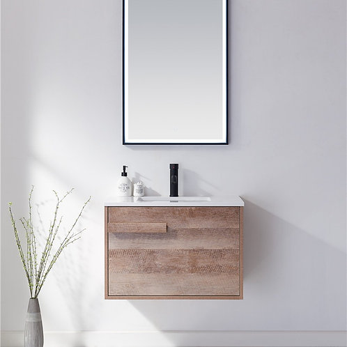 750 bathroom wall plywood vanity cabinet stone top ceramic basin deep sink