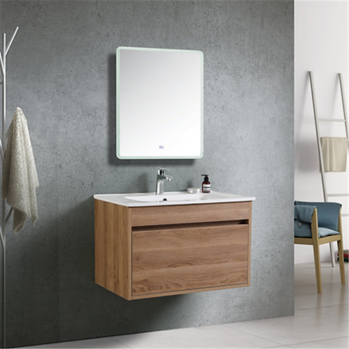 600mm Wall Hung Natural Oak Bathroom Vanity