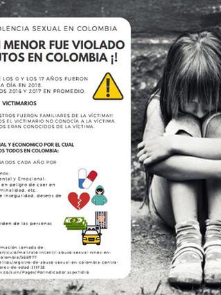 !¡ EN EL 2018 UN MENOR FUE VIOLADO CADA 22 MINUTOS EN COLOMBIA ¡!