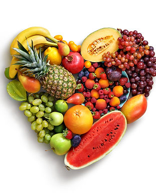 Heart symbol. Fruits diet concept. Food