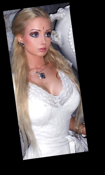 valeria lukyanova human barbie doll big blue eyes tiny waist ltress