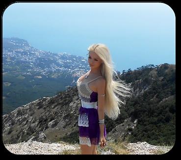 valeria lukyanova  mauve dress beauty beautiful face  doll real human doll long  blonde hair doll amatue  ltress