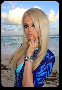 valeria lukyanova human barbie doll tiny waist beauty  long blonde hair ltre