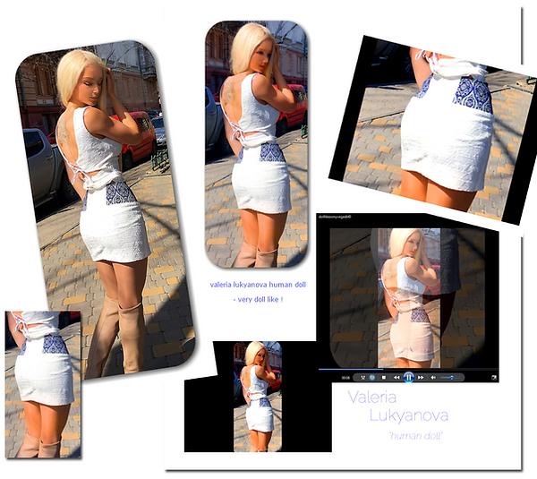 valeria lukyanova amatue human barbie doll beautiful face beauty queen long blonde hair stunning looking  tiny waist ltress