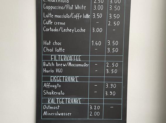 Getränke und Preise