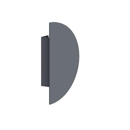 Demi-Lune Plat de Porte (14cm) TECHNAL