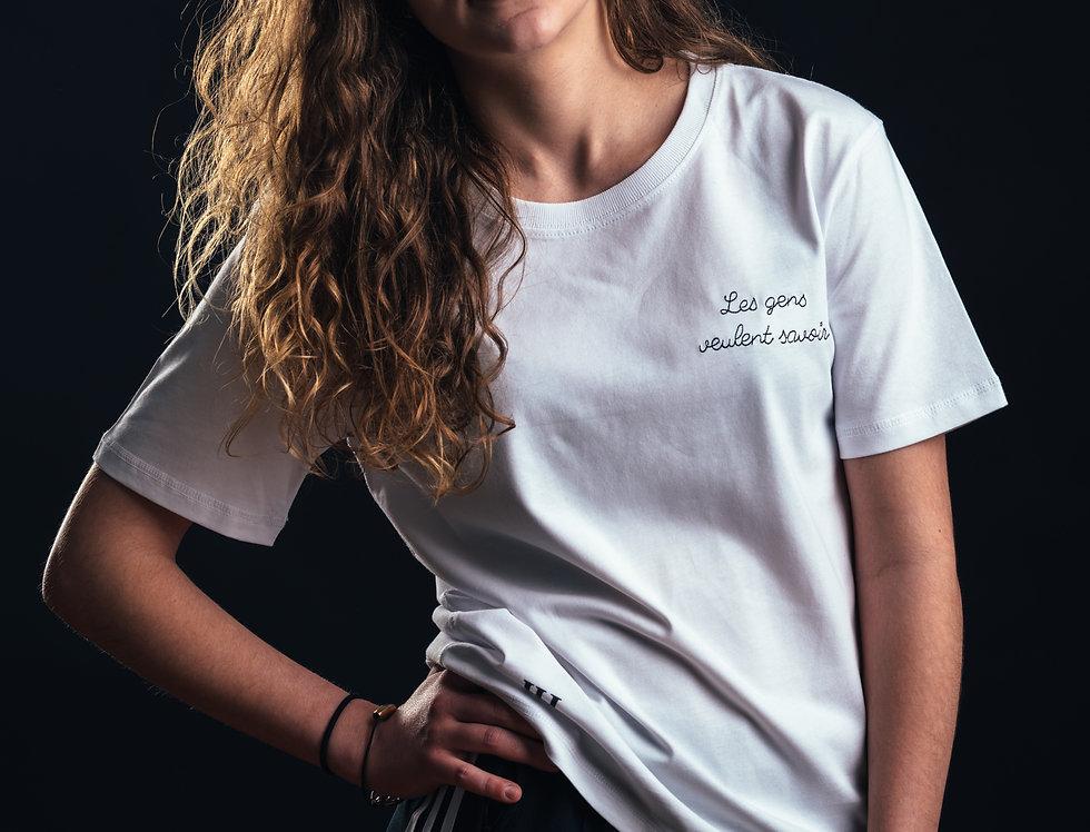 """T-shirt Nice - """"Les gens veulent savoir"""""""