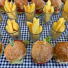Mini Beef Hamburger Platter