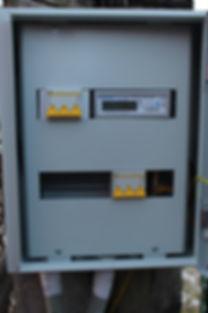 Выполнение технических условий Ленэнерго щит учета 15 кВт.
