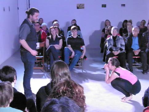 Alex Richardson as Felix and Tracey Guptill as Cara