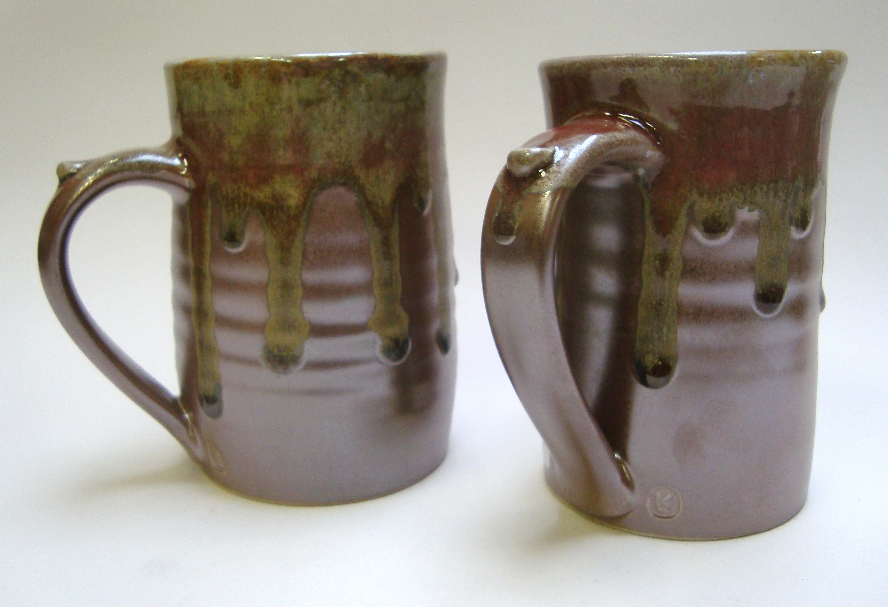 Clay and ash tankards.