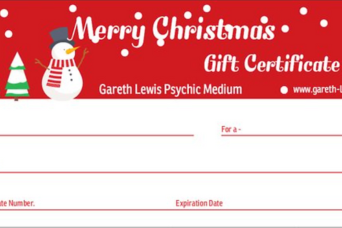 Online Private Reading Christmas Gift Voucher