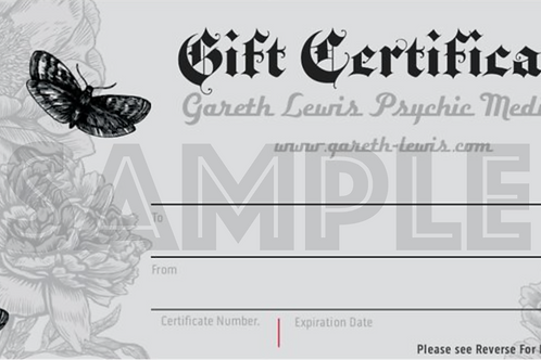 Tarot Reading (in person) Gift Voucher