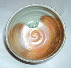 Teabowl with shino and ash glaze_1