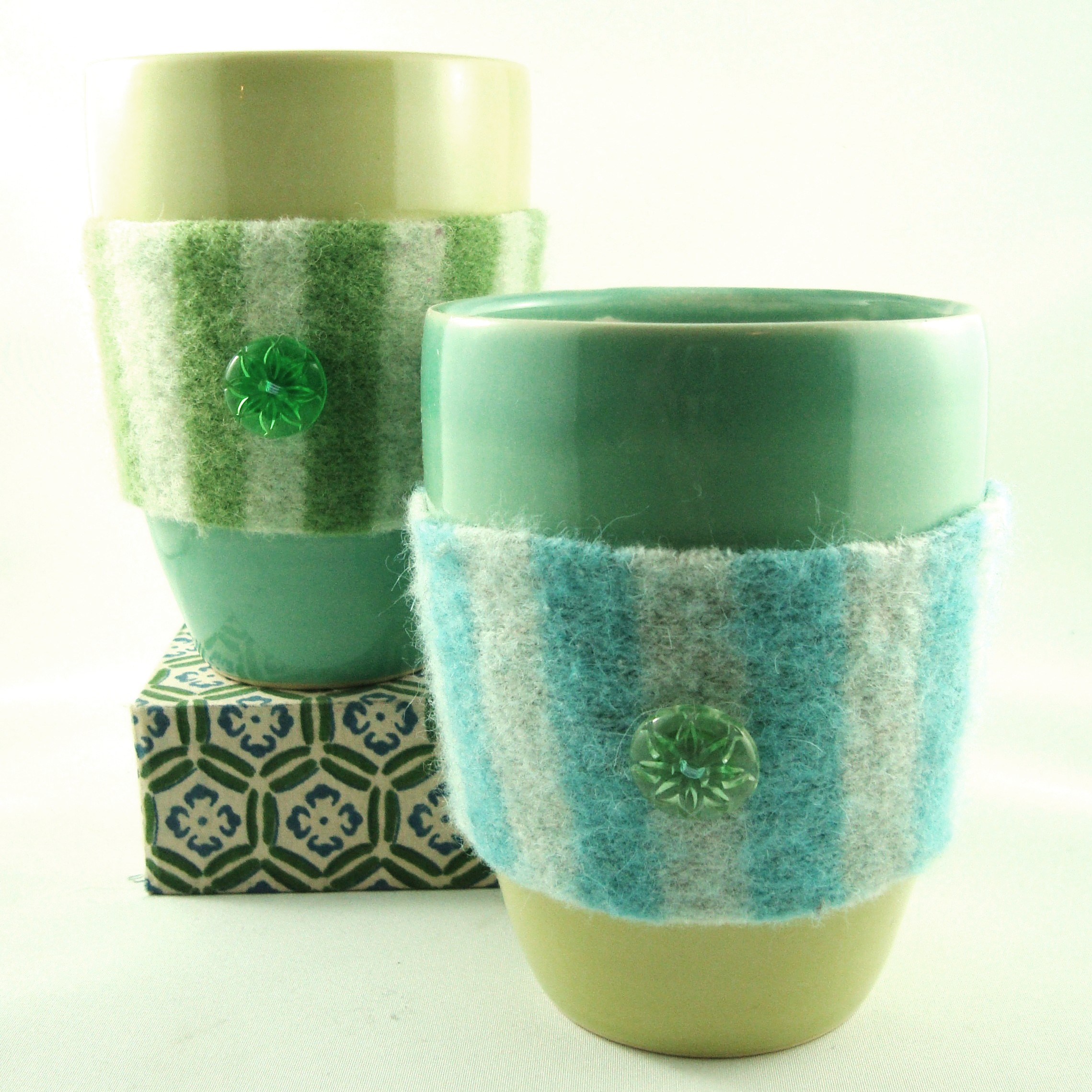 Lime and Turquoise Cuddlers