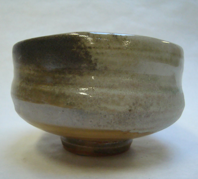 Teabowl with shino and ash glaze_2